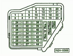 2003 Volkswagen Passat Arrangement Fuse Box Diagram
