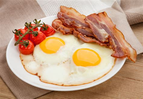 eggs and bacon fried eggs with rs and bacon recipe dishmaps