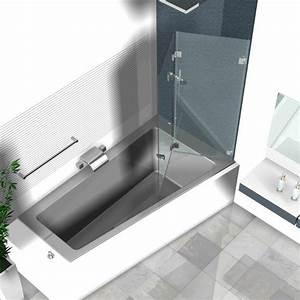 Duschwand Badewanne 160 : duschwand f r badewanne duschwand badewanne 65 x 160 cm ~ Lizthompson.info Haus und Dekorationen