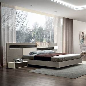Chambre adulte contemporaine design moderne chene et laque for Meuble disign chambre