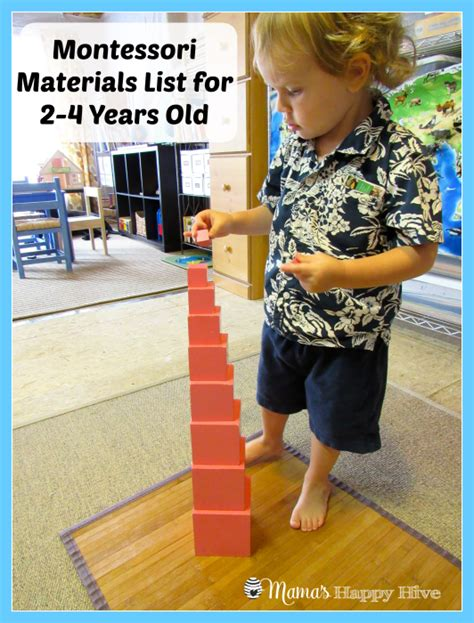 list of montessori materials for preschool montessori materials for 2 4 years s happy hive 412