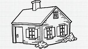 Drawn house easy - Pencil and in color drawn house easy