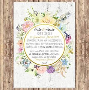 fair part de mariage modele faire part de mariage tattoo With chambre bébé design avec aquarelle fleurs pour mariage