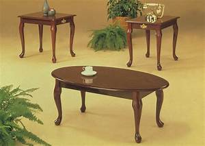 Roses flooring and furniture 3pc cherry queen anne coffee for Cherry coffee table and end tables
