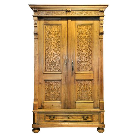 solid wood armoires wardrobes large antique pine armoire at 1stdibs