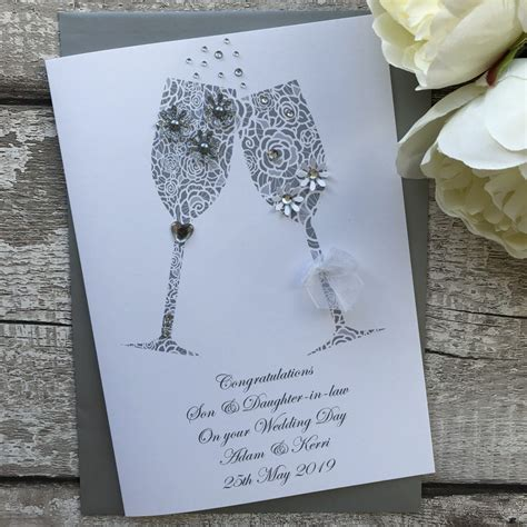 handmade wedding cards personalised cardspink posh