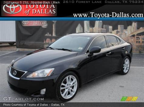black lexus 2007 obsidian black 2007 lexus is 250 black interior