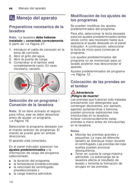 manual de instrucciones de lavarropas electrolux premium