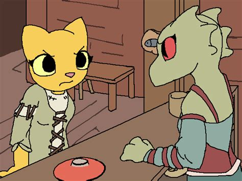 Image 3958 Skyrim Adorable Animation Argonian Artist