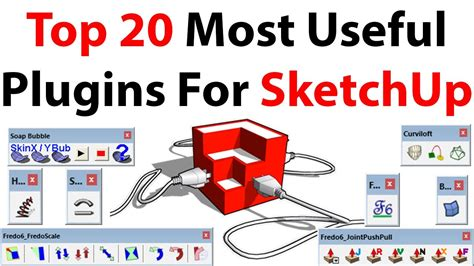 Top 20 Most Useful Plugins For Sketchup Youtube