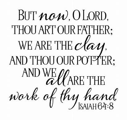 Potter Word Wordart Isaiah Wednesday Clay Bible