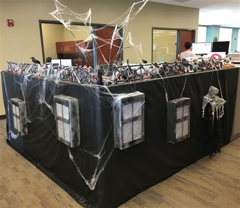 transformed my cubicle into a haunted mansion