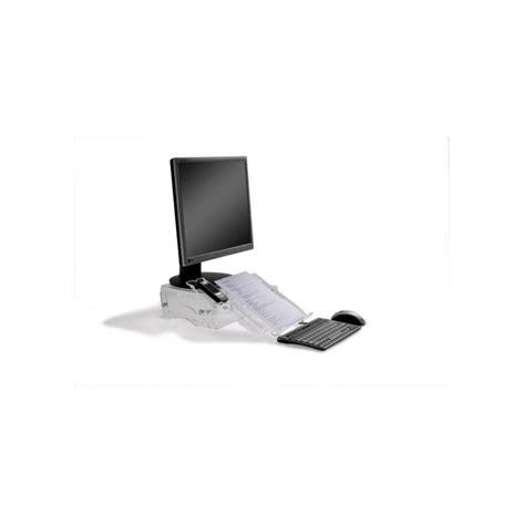rehausseur ordinateur bureau rehausseur d 39 écran réglable avec porte documents