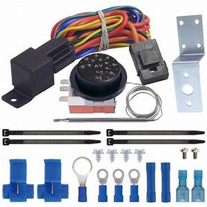 Dual Fan Adjustable Thermostat Switch Kit 32