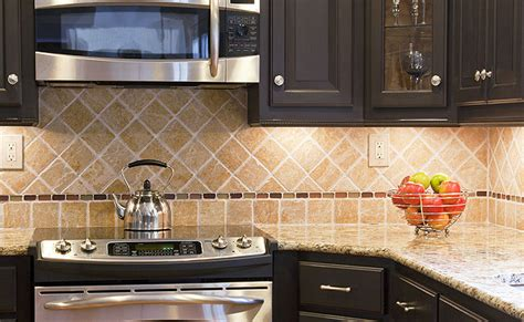 Granite Backsplash Photos : Tumbled Stone Backsplash Tile Ideas