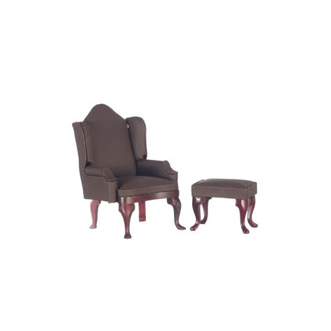 wing chair with ottoman brown wing chair with ottoman arm chairs living room
