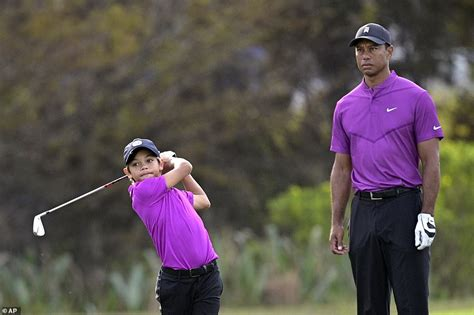 Tiger Woods' 11-year-old son Charlie makes TV debut at PNC ...