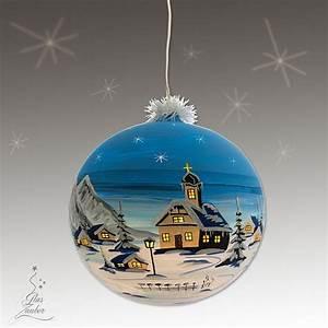 Weihnachtskugeln Glas Lauscha : xxl beleuchtete glaskugel aus glas 25 cm winterblau ~ A.2002-acura-tl-radio.info Haus und Dekorationen