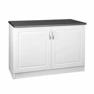Cdiscount Meuble De Cuisine : meuble cuisine bas 120 cm 2 portes dina blanc achat ~ Melissatoandfro.com Idées de Décoration
