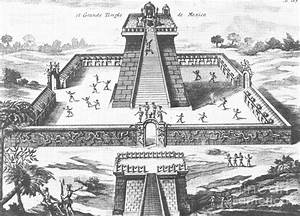 Aztec Temple At Tenochtitlan by Photo Researchers