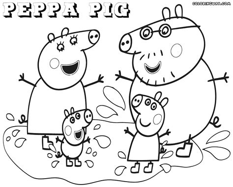 peppa pig coloring pages coloring pages