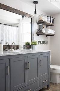 Diy, Farmhouse, Bathroom, Mirror, Tutorial