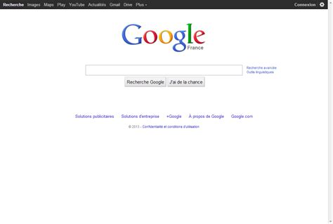 Google  Une Page D'accueil Encore Plus épurée, Un Nouveau
