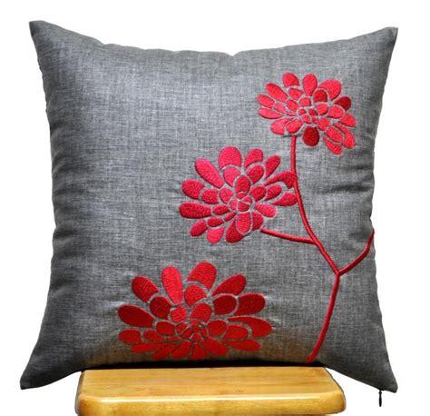 Pillow Cover Decorative Throw Pillow Cover Ash Grey Linen ...