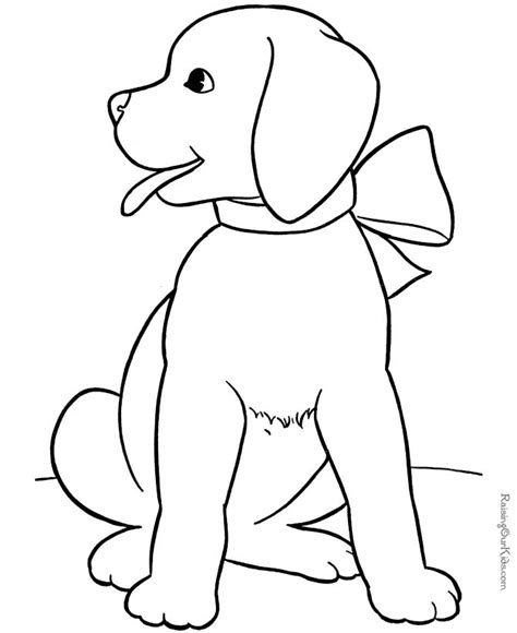 puppy animal coloring sheet  wishlist puppy