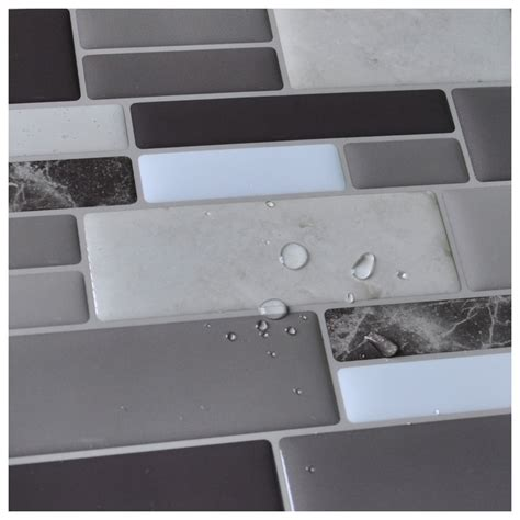 peel n stick tile backsplash bathroom wall tiles 6 sheet covers 5 8 sq ft