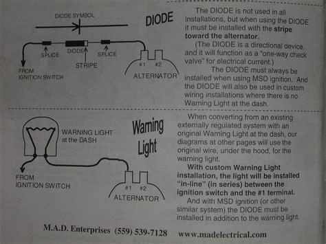 Wiring Delco Alternator Without Idiot Light Blazer