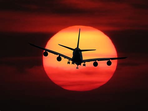 photo emotions fly aircraft sun  image