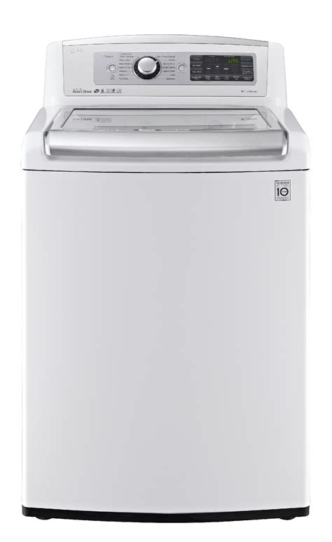 high efficiency washer lg wt5680hwa 5 0 cu ft high efficiency top load washer w