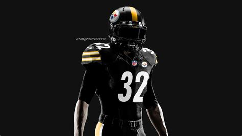 report steelers  wear  black color rush uniforms