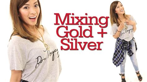 Mixing Gold and Silver Jewelry + OOTD with Heart! #17Daily