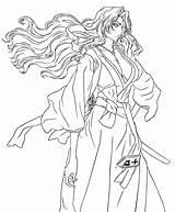 Rangiku Matsumoto Draw Coloring Deviantart Larger Credit sketch template