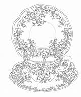 Tea Issuu Coloring Elegant Pages Adult Cup Printable Colouring Sheets sketch template