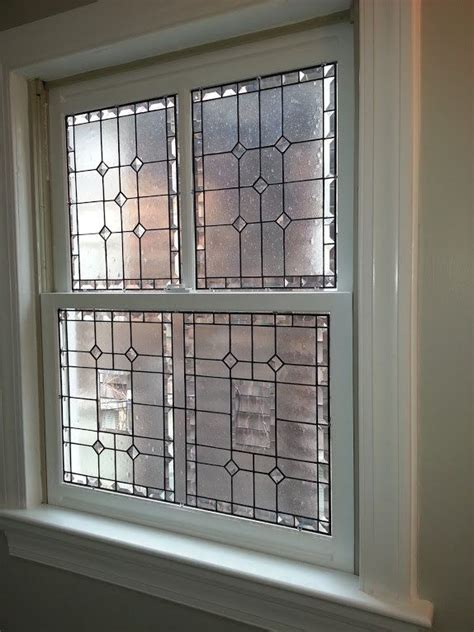 custom stained glass  piece window elegant privacy