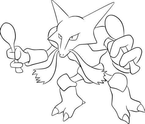 immagini di pokémon da disegnare disegno di alakazam da colorare gratis