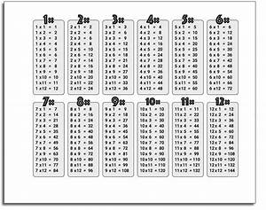 Print Times Table Chart Printable 1 12 Times Tables K5 Worksheets