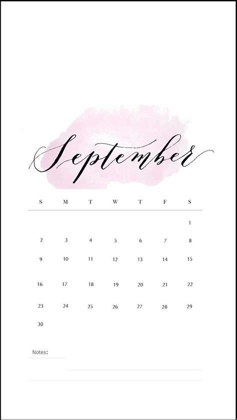 september  iphone calendar wallpapers calendar