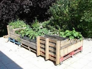 Terrasse Avec Palette : id es recup ou comment faire un potager sur une terrasse oh c 39 est le ton ~ Melissatoandfro.com Idées de Décoration