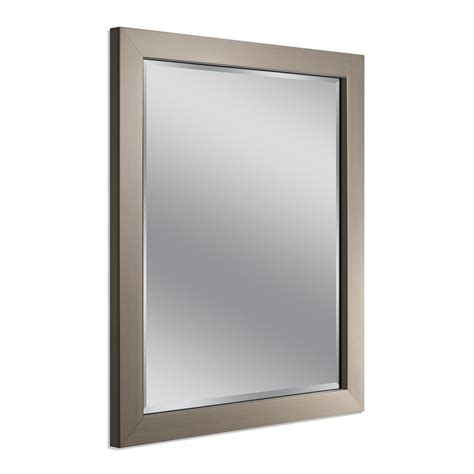 X On Bathroom Mirror by Deco Mirror Modern 26 In X 32 In Mirror In Brushed