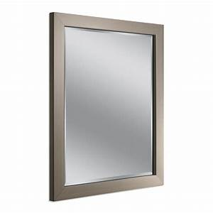 Deco Mirror Modern 26 in. x 32 in. Mirror in Brushed ...