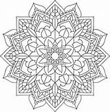 Mandala Coloring Mandalas Simple Floral Creativity Express Pages Perfect Adult sketch template