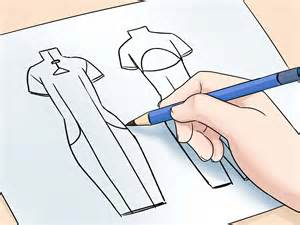 clothing designs the simplest way to draw fashion sketches wikihow