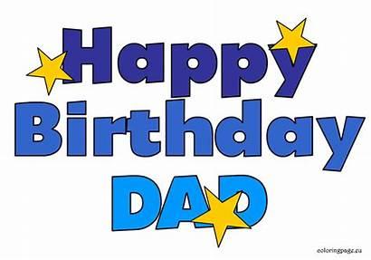 Birthday Happy Daddy Clipart Dad Clip Cliparts