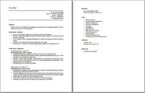Insurance Claims Clerk Work Resume Sample