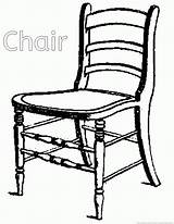 Chair Coloring sketch template