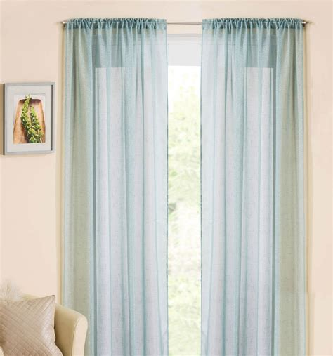 Blue Voile Curtains by Casablanca Rod Pocket Voile Duck Egg Free Uk Delivery